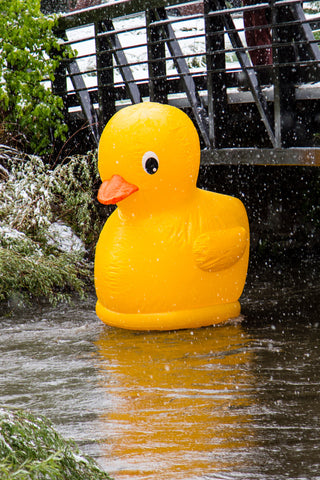 8-Foot Tall Giant Rubber Ducky Pool Float