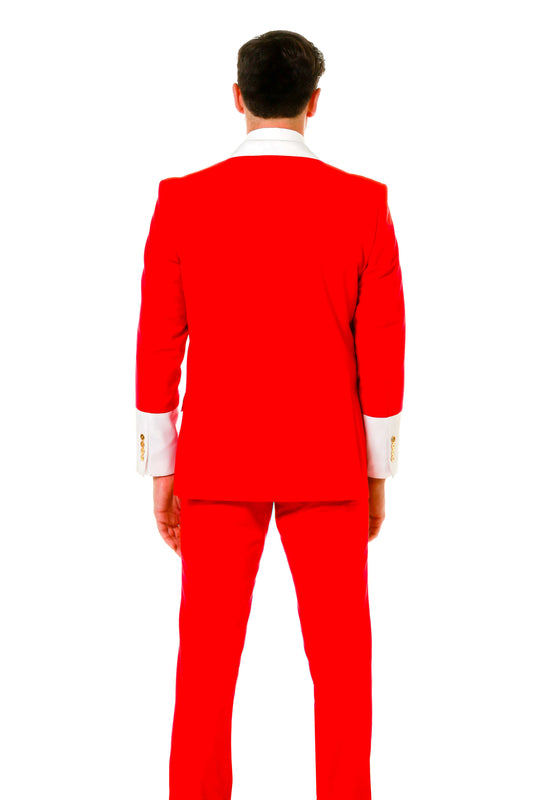 Men's red christmas dress suit