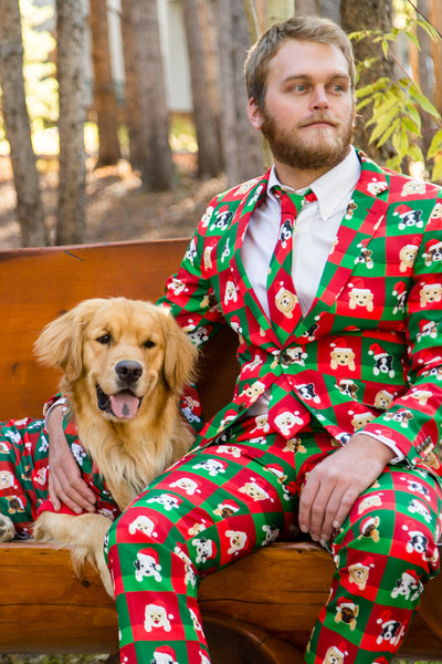 Puppy Style Ugly Christmas Sweater Suit