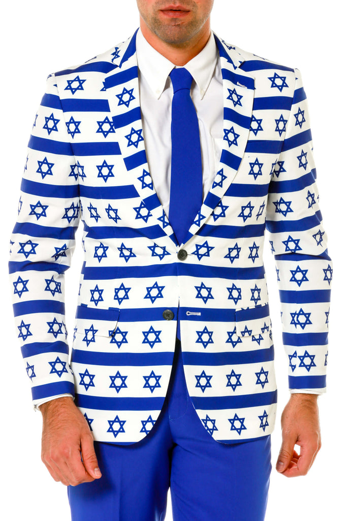 Hanukkah Bar Mitzvah Star of David Ugly Christmas Sweater Suit