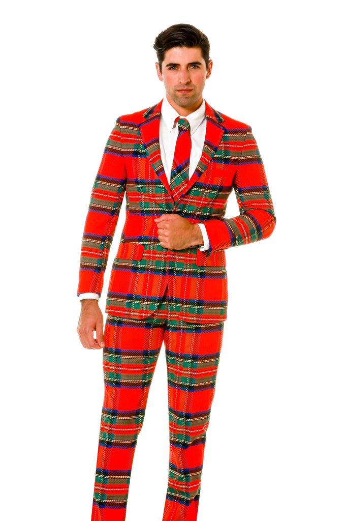Green and Red Plaid Ugly Sweater Party Full Suit