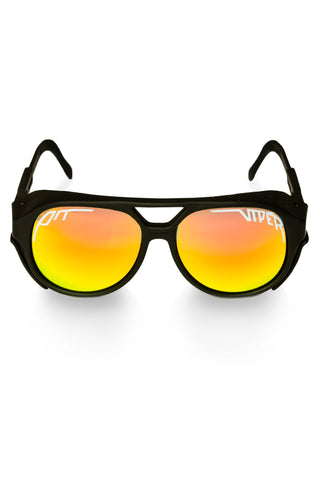 Men's Black Mirrored Pit Viper Exciter Sunglasses
