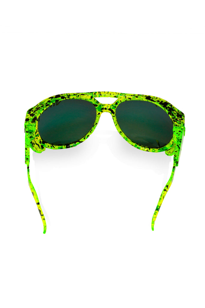 Men's Neon Green Pit Viper Sunglasses