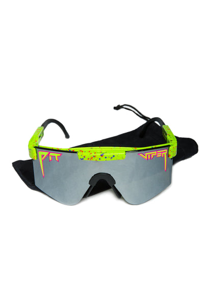 Men's green mirrored pit viper sunglasses