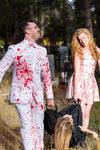 Couples Halloween Dress and Suit with Blood