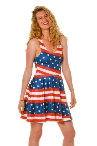 The Marilyn American Flag Skater Dress