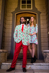 Couples Ugly Christmas Dress and Suit