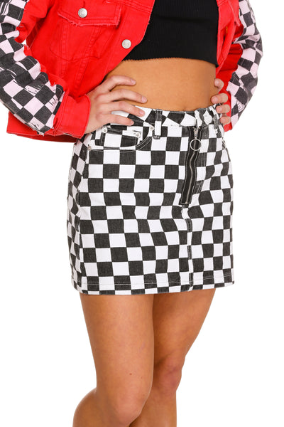 Checkerboard skirt for women