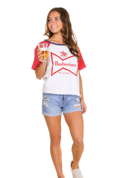 Women's Budweiser logo cut off sweatshirt