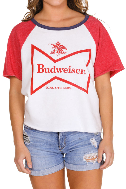 Women's Budweiser short sleeve sweatshirt