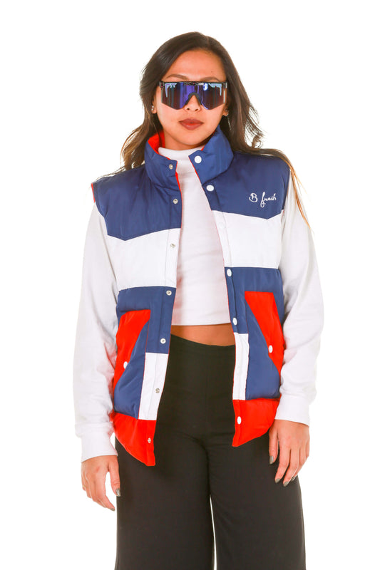 Ladies USA puffy vest