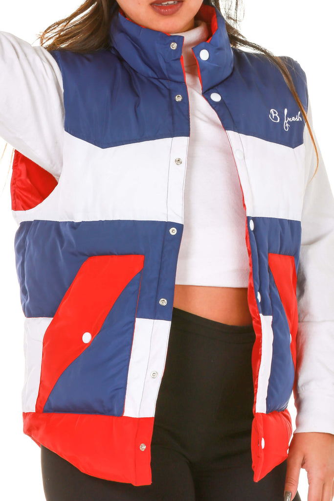Dry Pits Women's USA Puffy Vest