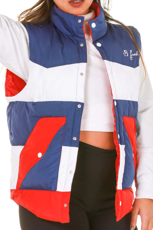 women's usa puffy vest