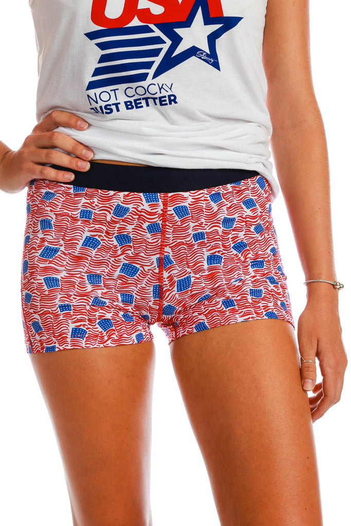 Sbotus | American Flag Compression Shorts