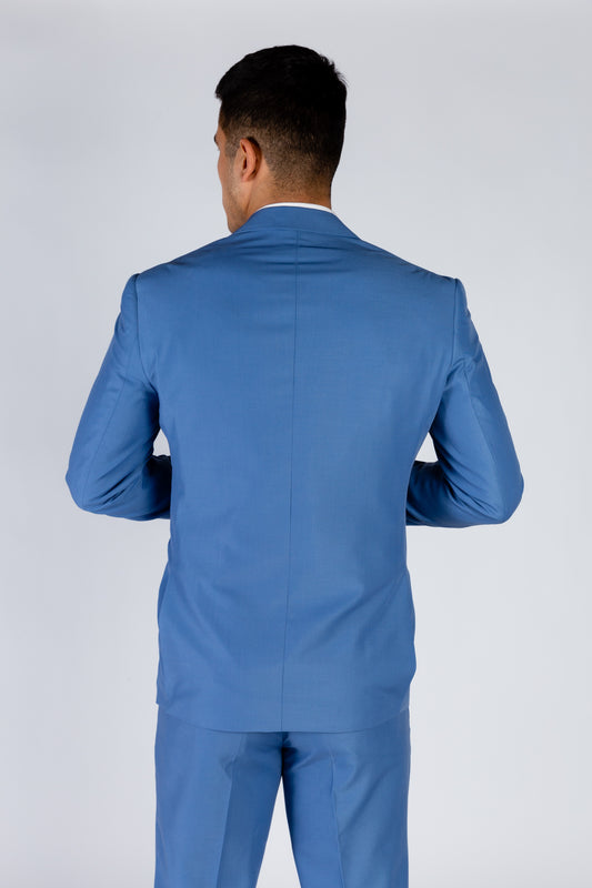 Solid Blue Dinner Jacket with America Lining