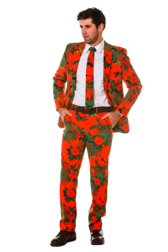 Red and Green Hawaiian Christmas Suit