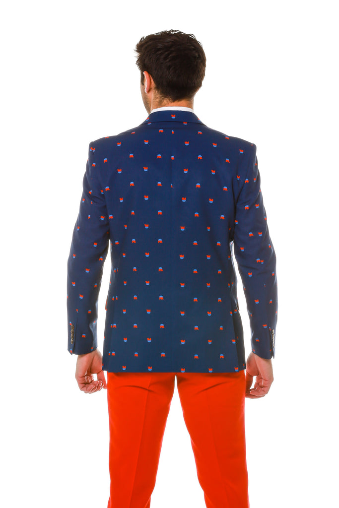The Grand Old Elephant Print Republican Blazer