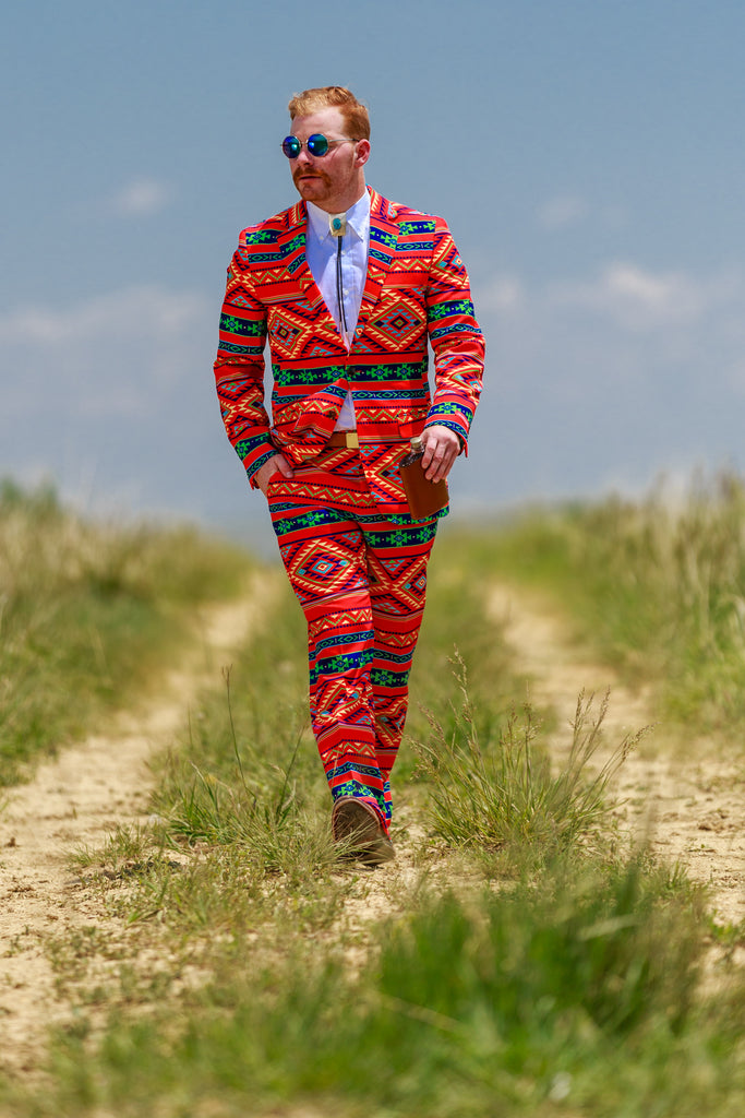 Party Suit for Men Aztec Print