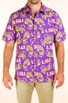 LSU Tigers Button Up Game Day Shirt