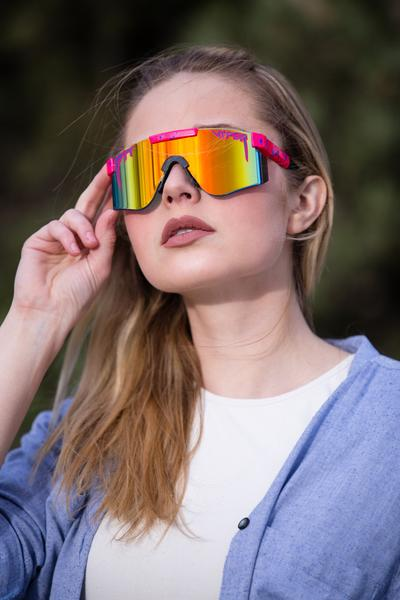 The Radicals | Pink Mirrored Lens Pit Viper Sunglasses