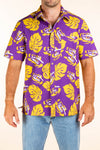 Men's LSU Hawaiian Tiger Eye Shirt