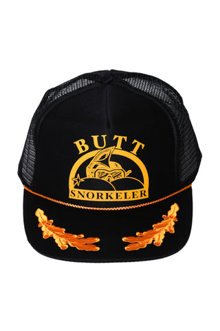 Buttsnorkeler Og Captains Hat Black and Gold
