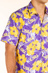 LSU button up game day shirt