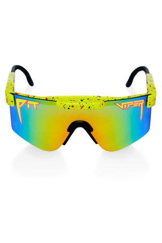 Green Mirrored pit viper sunglasses