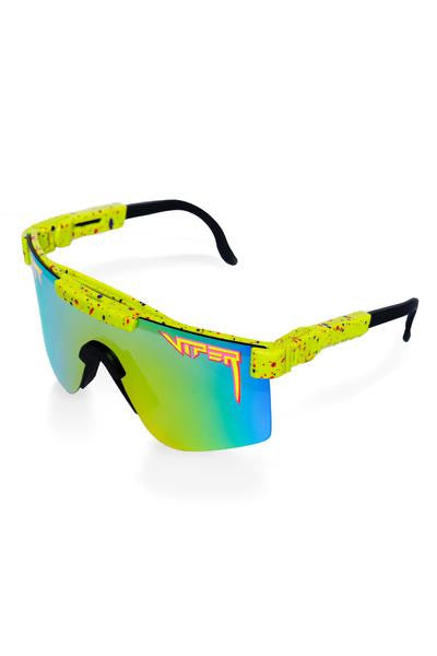 Mirrored green pit viper sunglasses