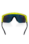 Green splatter pit viper sunglasses