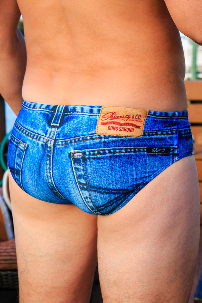 American Denim Muscle Swim Brief Combo