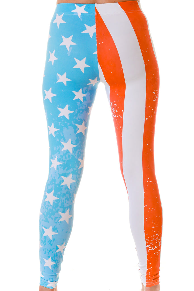 The Freedom-Defending American Flag Leggings