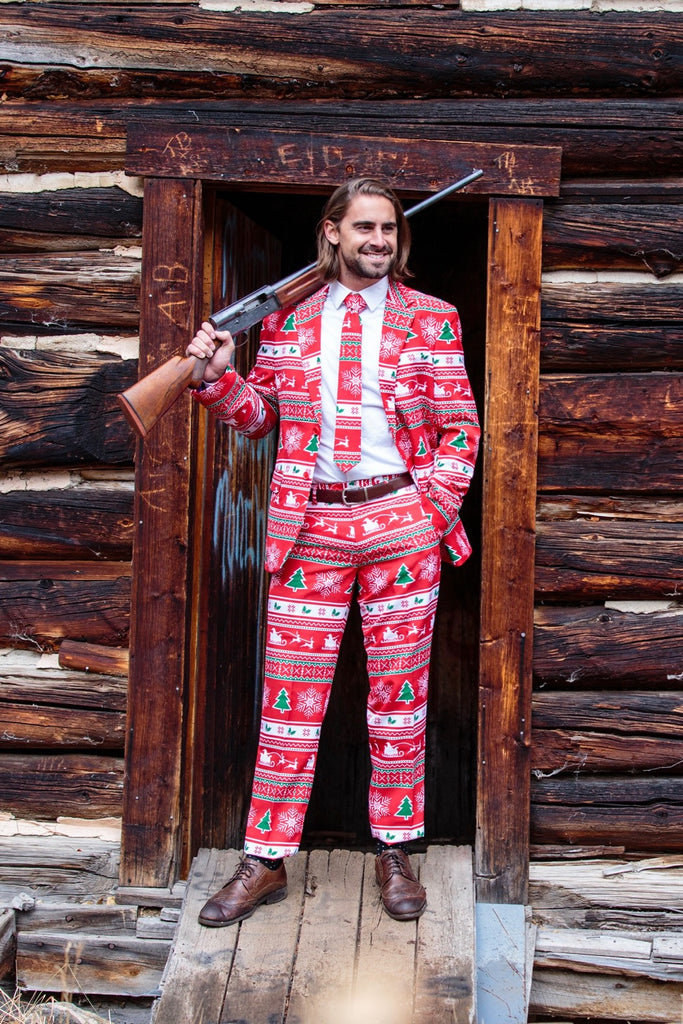Shinesty Christmas Suits.The Soiree Of Sin Red Ugly Christmas Sweater Suit By Opposuits