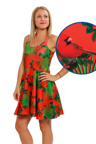 Pre-Order -  The Cardinal Hawaiian Print Ugly Christmas Dress - Delivery by November 2016 - Shinesty