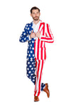 Mens patriotic suit pants