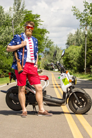 The Merican Gentleman American Flag Summer Suit: Martha's Vineyard Edition by Opposuits - Shinesty