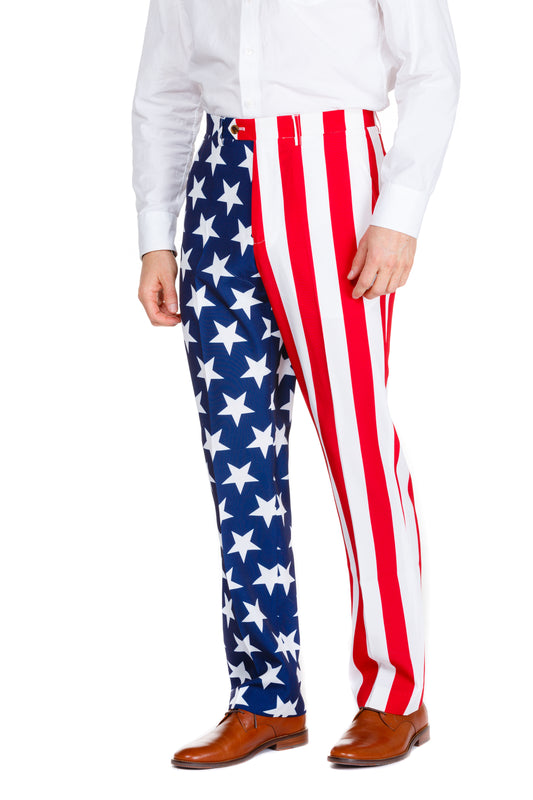 Guys American Flag Suit Pants