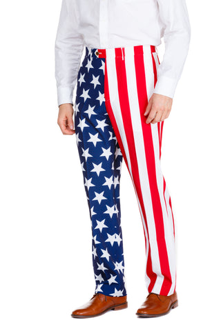 American Flag Suit Pants
