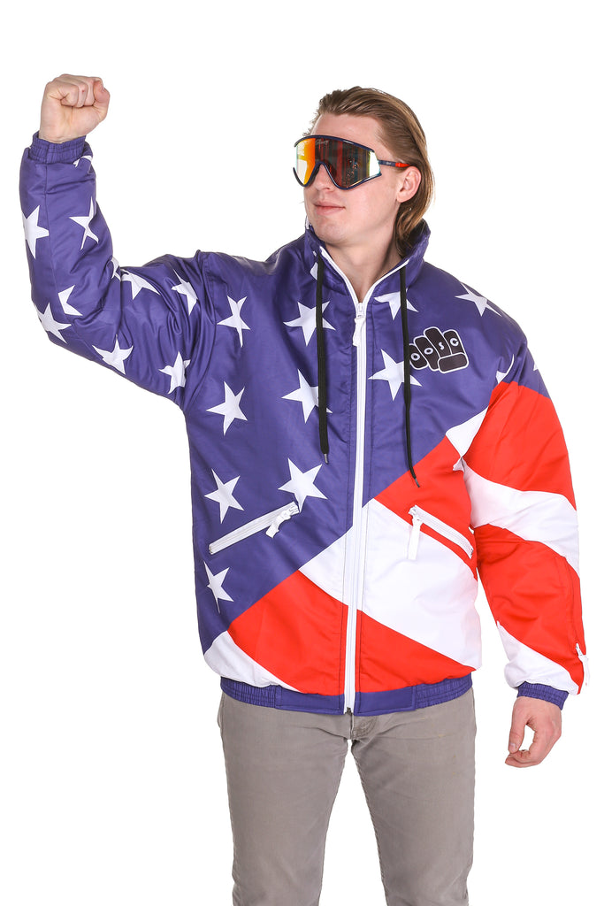 The Jfk | American Flag Ski Jacket