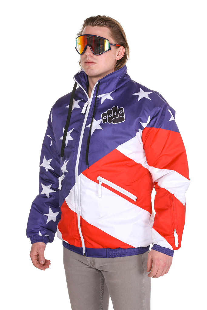 80aaadbfc2 THE JFK AMERICAN FLAG SKI JACKET