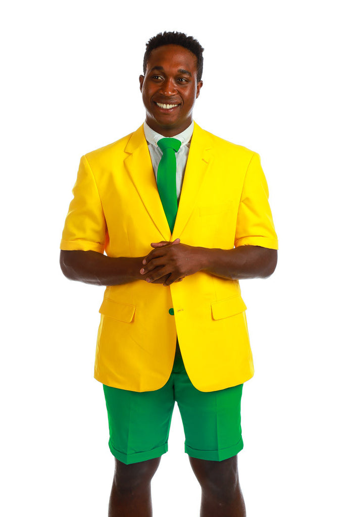 Yellow and Green Short Suit