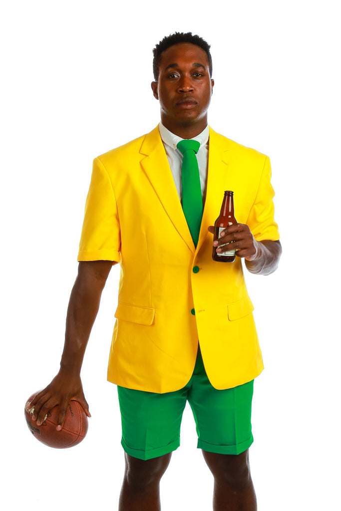 Green and Yellow Short Suit