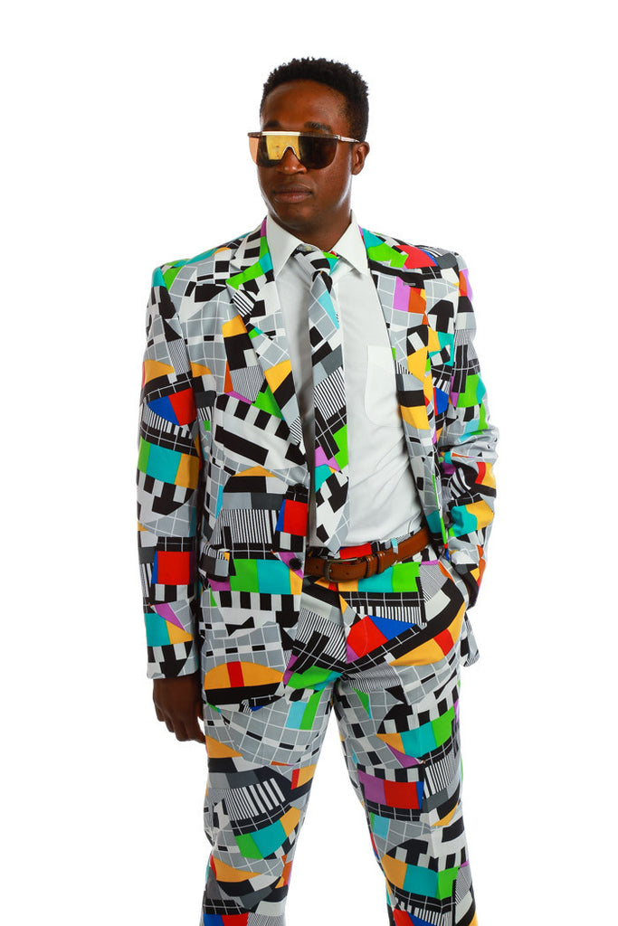 Crazy 80s Retro Mens Suit