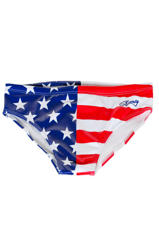 American flag swim briefs