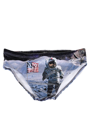 usa man on the moon swim brief