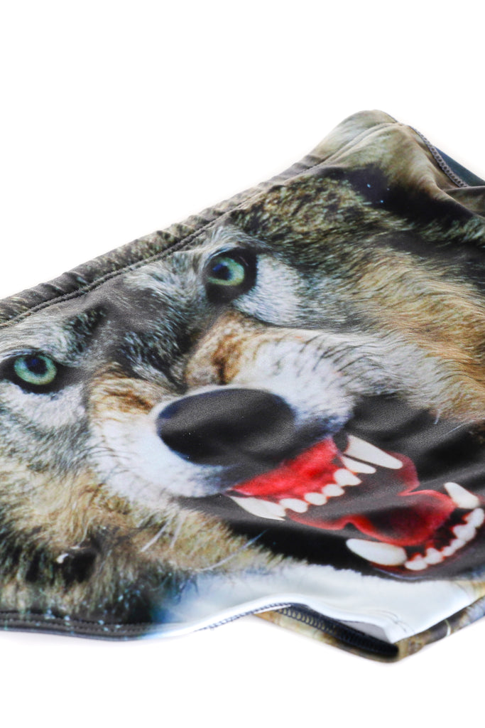 Wolf Print swim suit for men