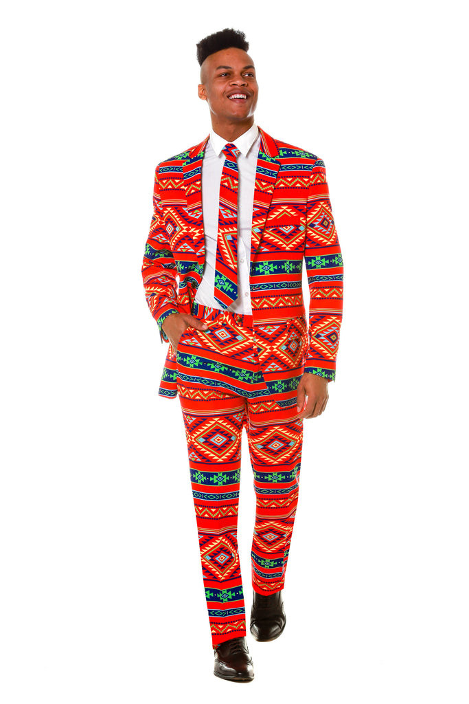 Aztec Print Party Suit for Men