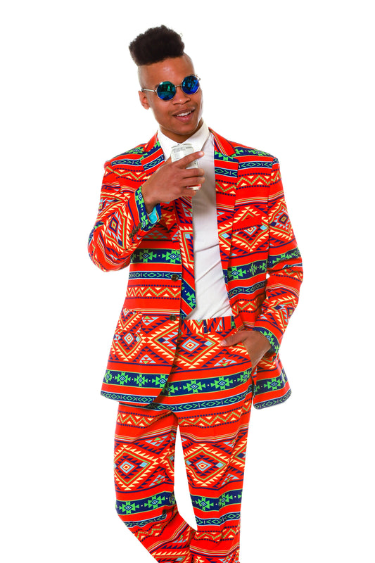 Aztec Art Party Suit for Men