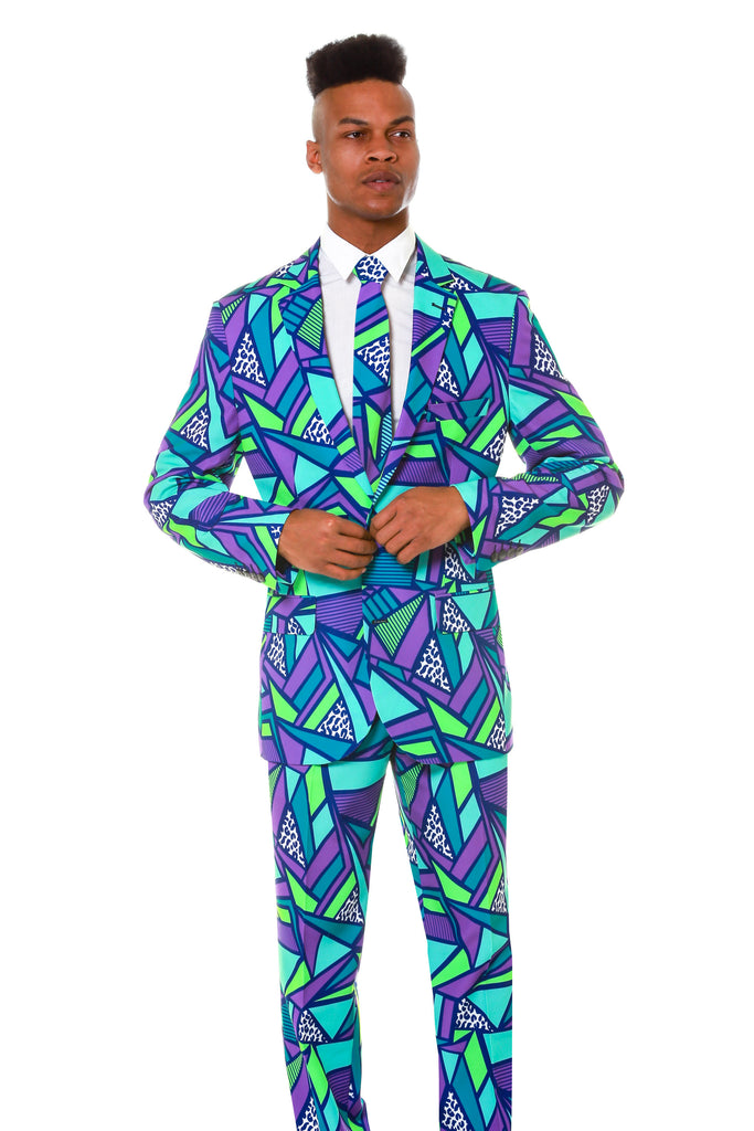 Our men's suits have awesome designs that are perfect for any occasion including Christmas, Halloween, sporting events, prom night, parties, and more.