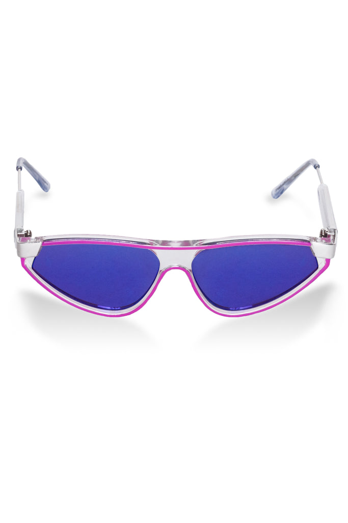 The Illuminati | Purple Mirrored Sunglasses